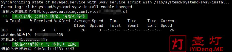 安装 V2Ray VLESSNginxwstls 脚本过程中输入绑定的域名