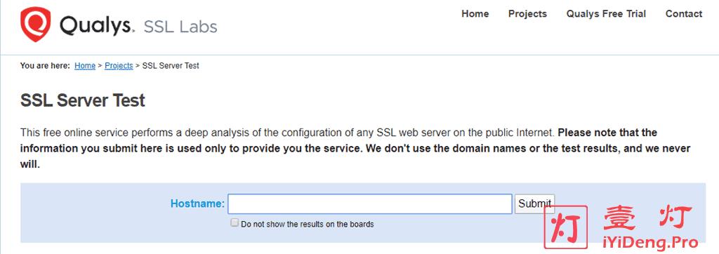 Qualys SSL Server Test